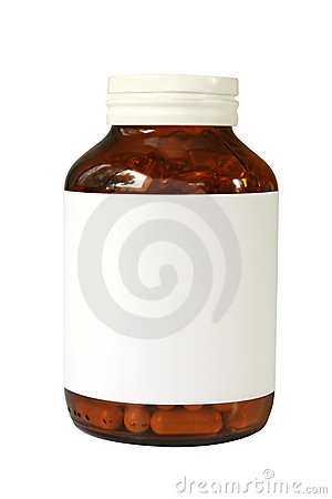 Free Pill Bottle Royalty Free Stock Image - 8431706