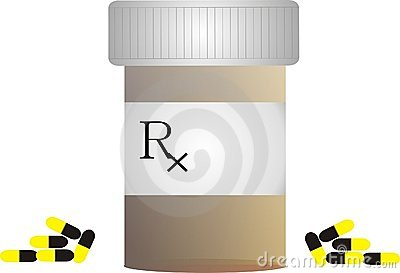 Pill Bottle With Rx Symbol