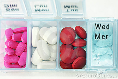 Pill box horizontal