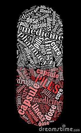 Pill capsule symbol