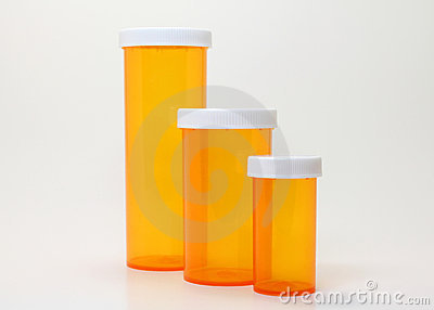 Pill Containers Royalty Free Stock Photography Image