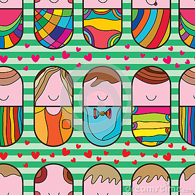 Free Pill Cute Love Seamless Pattern Stock Photos - 55301133