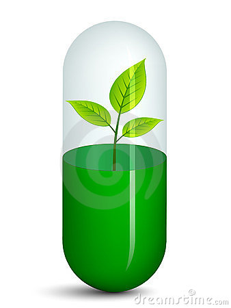 Pill with plant