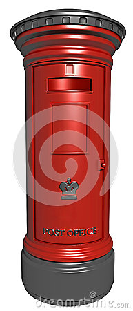 Pillar box for posting letters