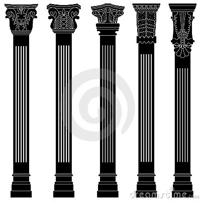 Pillar column antique ancient old roman greek arch
