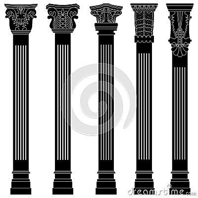 Pillar column antique ancient old roman greek arch