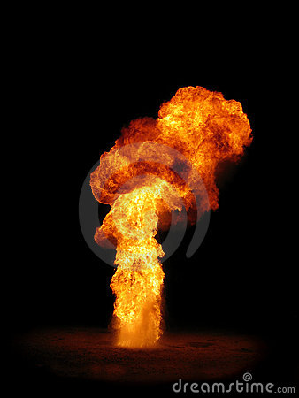 Free Pillar Of Fire Royalty Free Stock Photography - 1554767