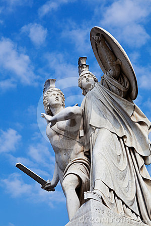 Pillar Statue in Schlossbrücke Bridge in Berlin