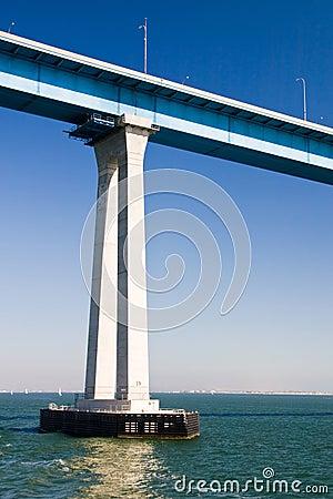 Pillar of a tall Bridge