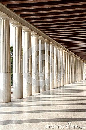 The pillars near Acropolis