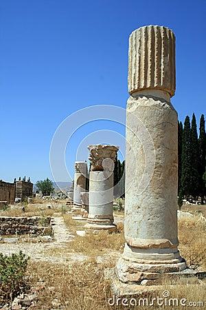 Pillars in Pamukkale