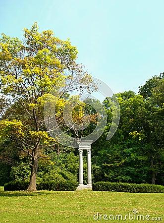 Pillars in a park