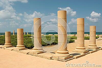 Pillars on the sea shore