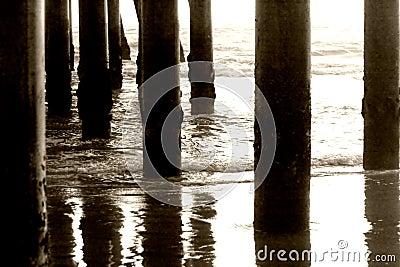 Pillars under the pier