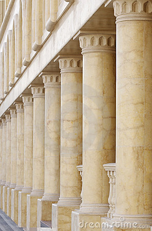 Pillars in Verandah, shallow DOF
