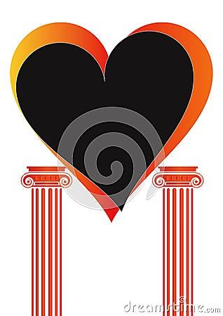 Free Pillars With Heart - Vector Royalty Free Stock Photos - 6495708