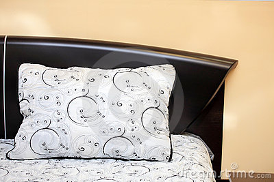 Pillow on a bed