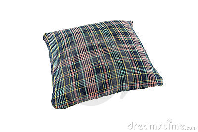 Pillow blue shade plaid