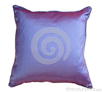Pillow, bright pillow on background.