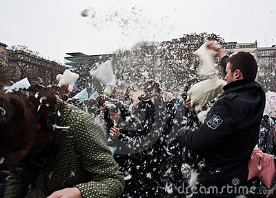 Pillow fight Editorial Photo