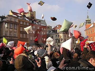 Pillow fight Editorial Image