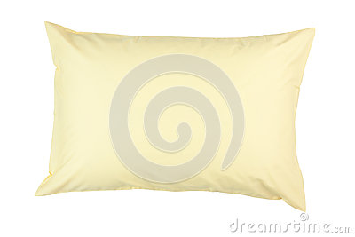 Pillow with yellow pillow case