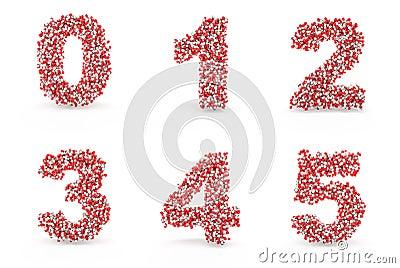 Pills alphabet 0 1 2 3 4 5