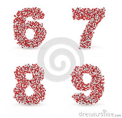 Pills alphabet 6 7 8 9