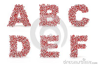 Pills alphabet A B C D E F