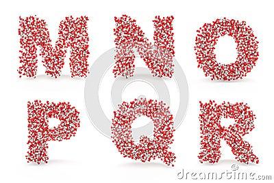 Pills alphabet M N O P Q R
