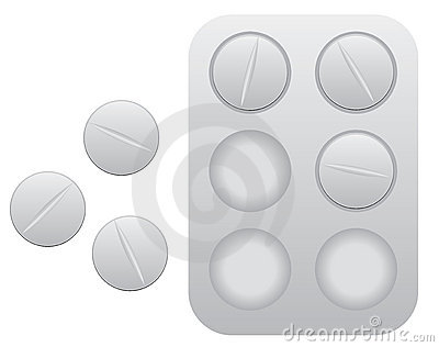 Pills with blister pack