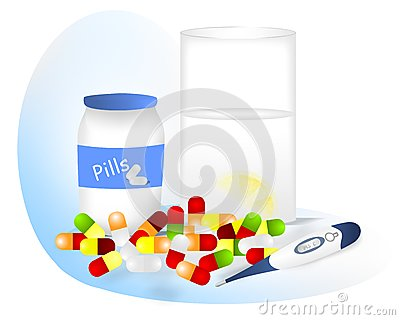 Pills for fever, cdr vector