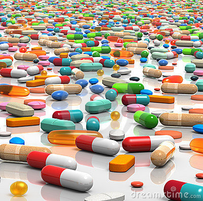 Free Pills Galore Royalty Free Stock Image - 11780786