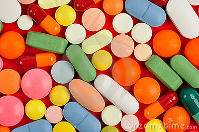 Pills on Red