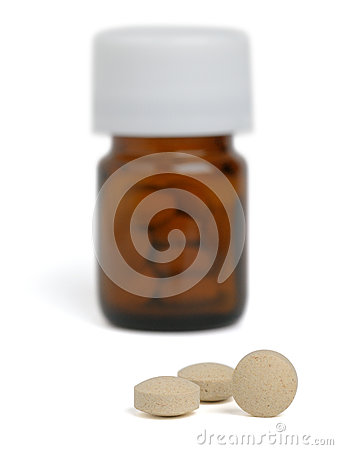 Small Round Brown Pill