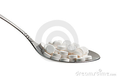 Pills in a spoon