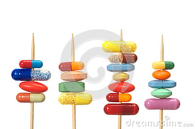 Pills on Toothpicks