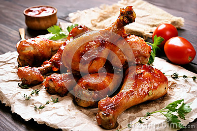 pilon de poulet cuit au four photo stock image 82183525. Black Bedroom Furniture Sets. Home Design Ideas