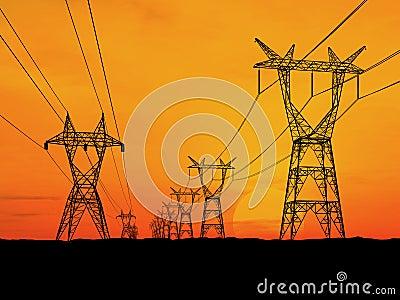 Pilones de la electricidad