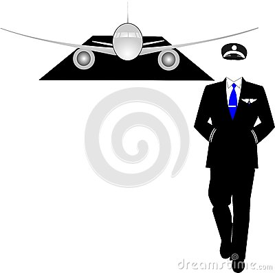 Pilot with his jet