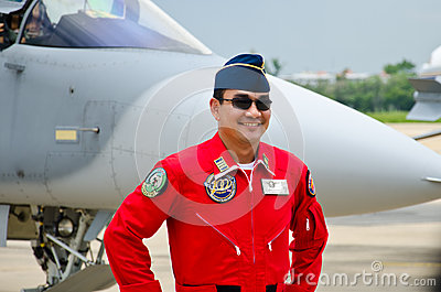Pilot of the Indonesian Air Force. Editorial Photography