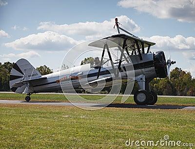 Pilot and Plane - Leesburg Va Airshow Editorial Stock Photo