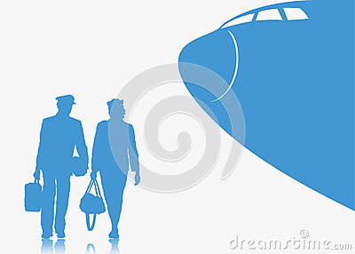Pilot and stewardess background