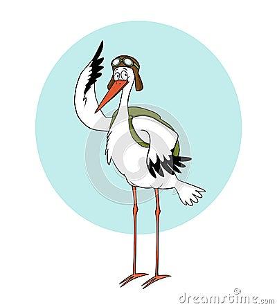 Pilot stork