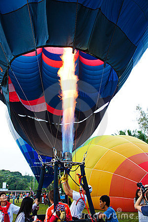 Pilot testing burner of balloon Editorial Photography