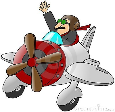 Pilot Waving From A Small Airplane