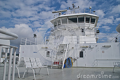 Pilothouse on a ferry