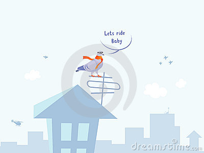 Piloto fresco divertido de la paloma