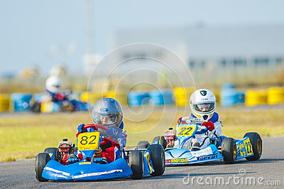 Pilots competing in National Karting Championship Editorial Image
