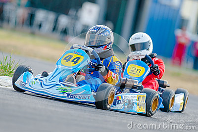 Pilots competing in National Karting Championship Editorial Photo